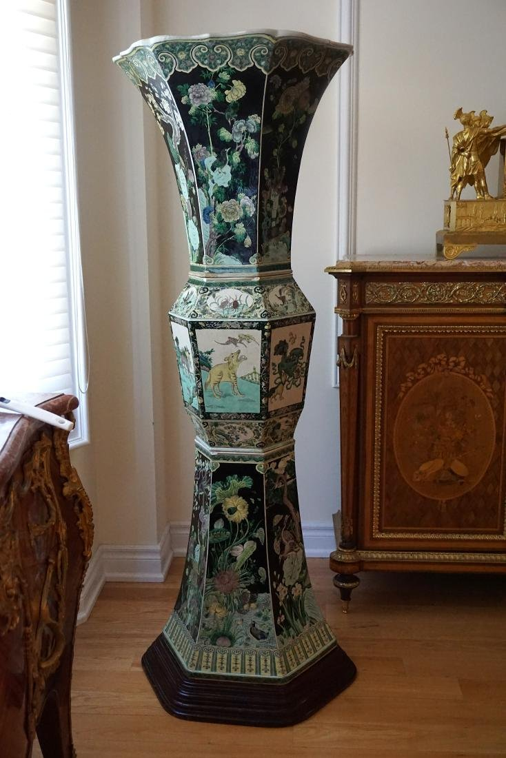 An Extremely Large, Museum Piece, Familie Verte Vase