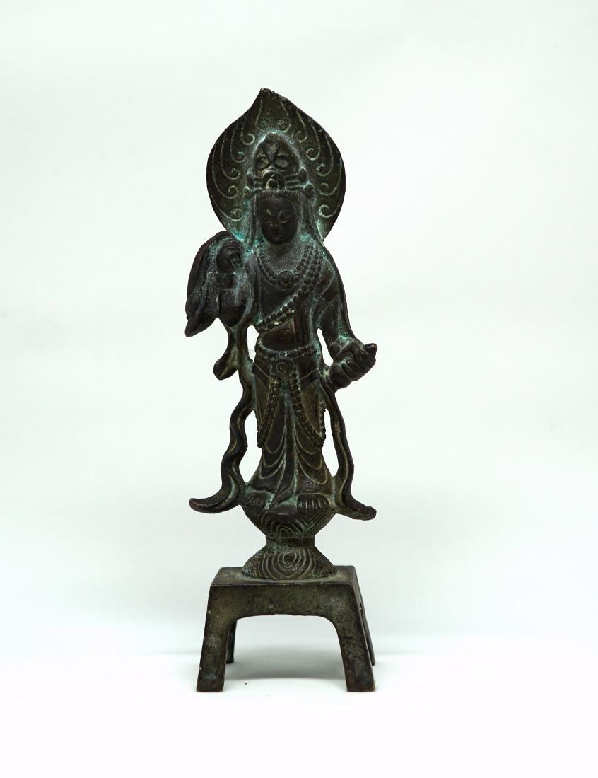 A Tang Bronze Figure of Bodhisattva