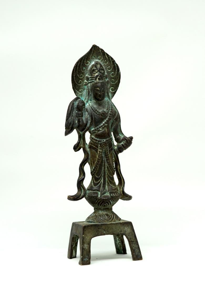 A Tang Bronze Figure of Bodhisattva - 5