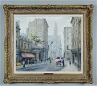 Paris Street Scene Oil by Paul Gagni