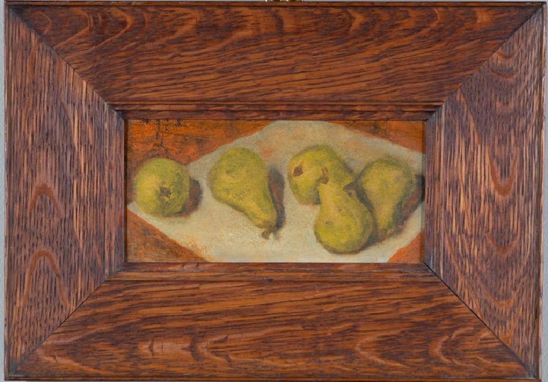 Paula Algminowicz Oil, Still Life of Five Pears
