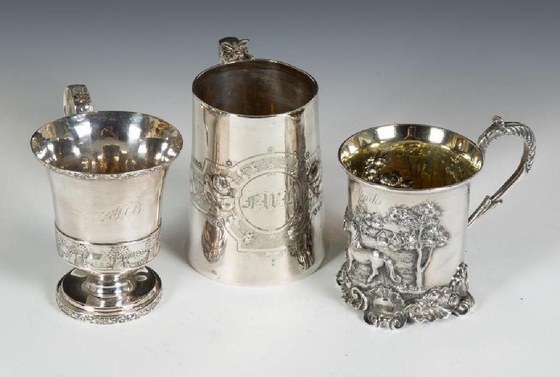 Three Sterling Silver Mugs