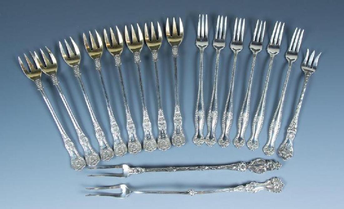 Lot of Sterling Silver Cocktail Forks and Serving Forks