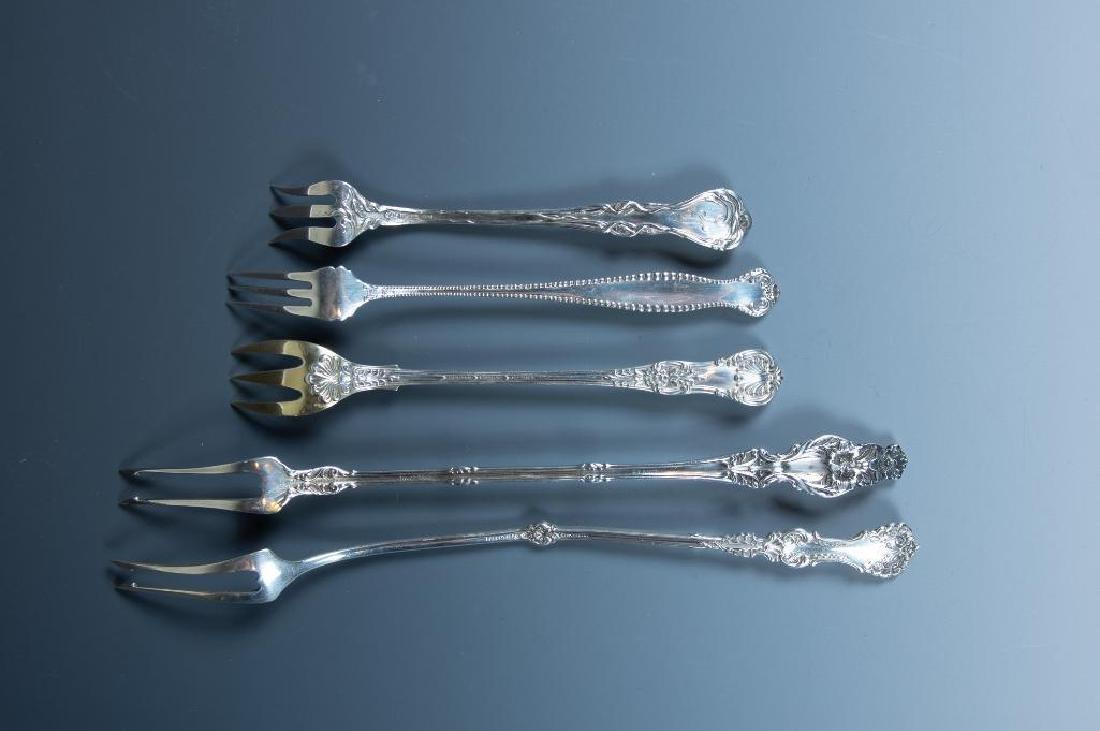 Lot of Sterling Silver Cocktail Forks and Serving Forks - 4