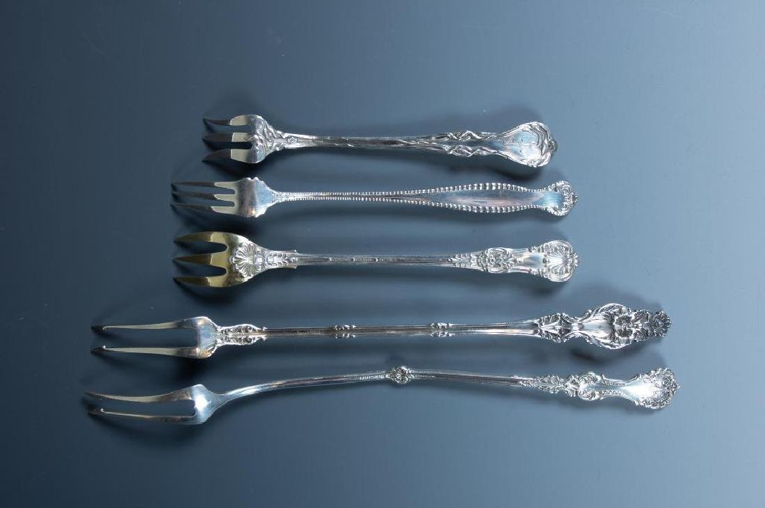 Lot of Sterling Silver Cocktail Forks and Serving Forks - 5