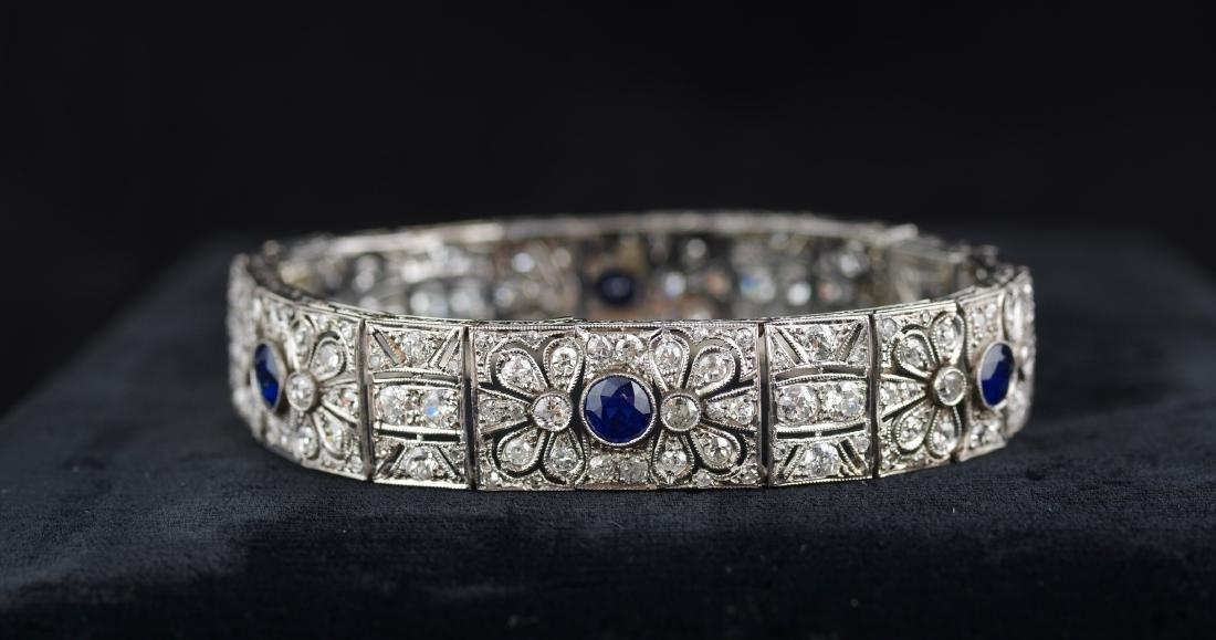 Diamond and Sapphire Art Deco Bracelet - 2