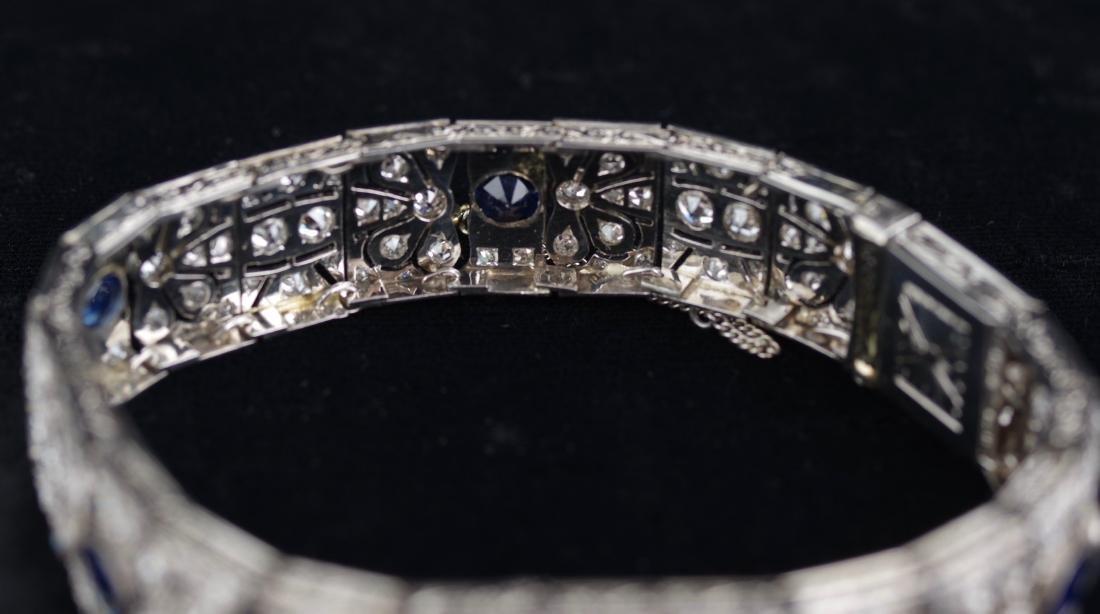 Diamond and Sapphire Art Deco Bracelet - 3