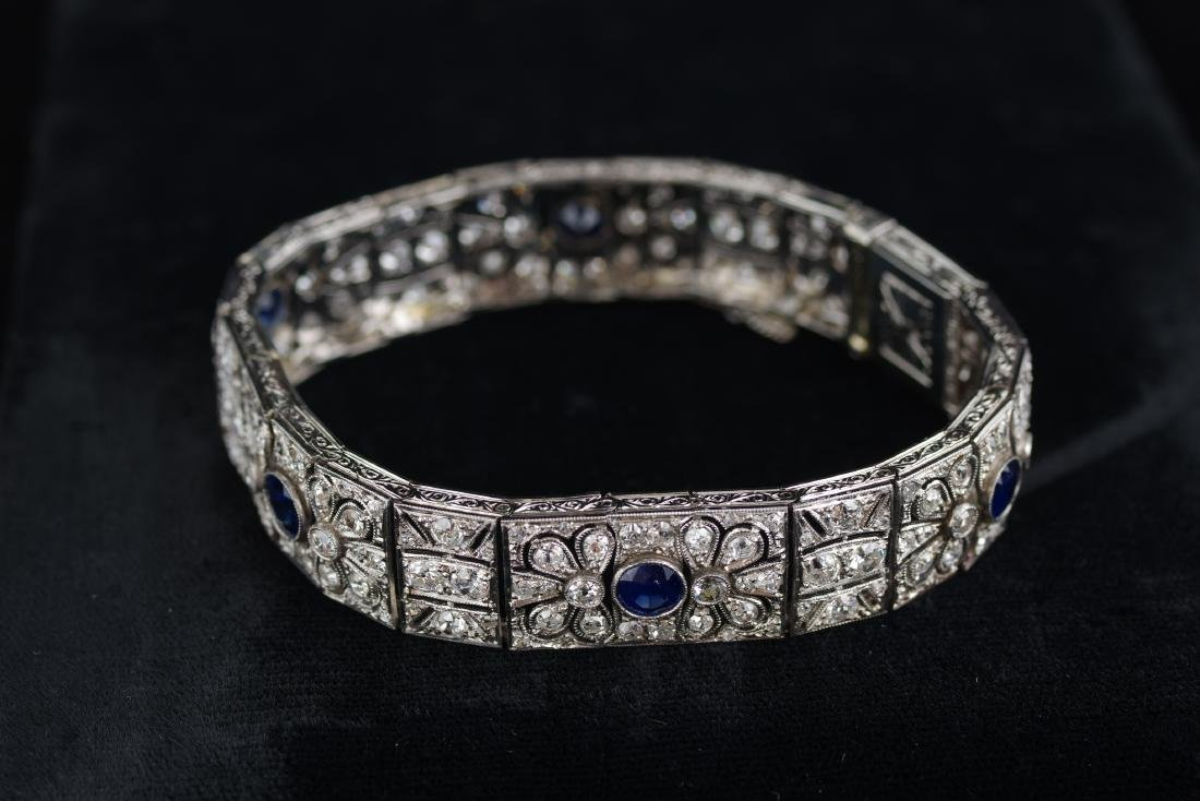 Diamond and Sapphire Art Deco Bracelet - 4