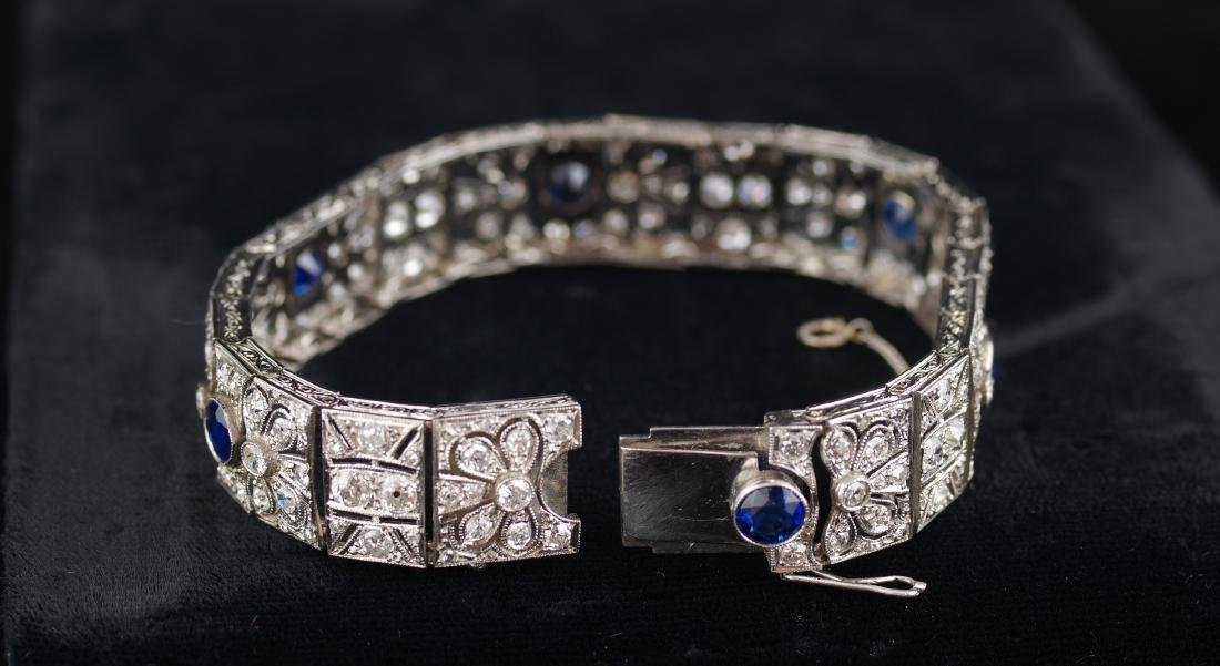Diamond and Sapphire Art Deco Bracelet - 5