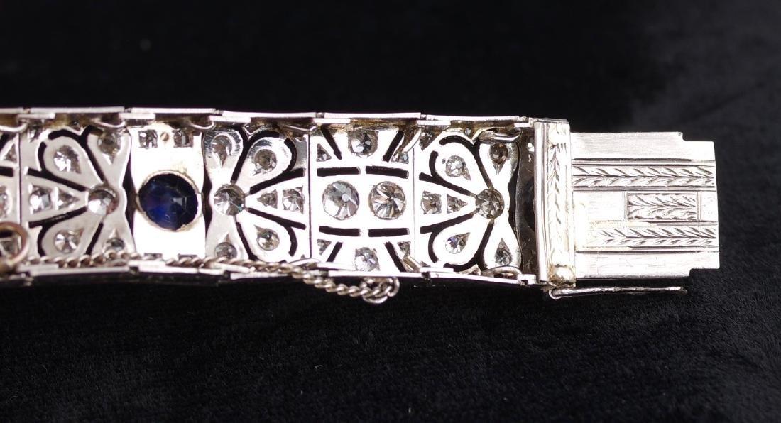 Diamond and Sapphire Art Deco Bracelet - 6