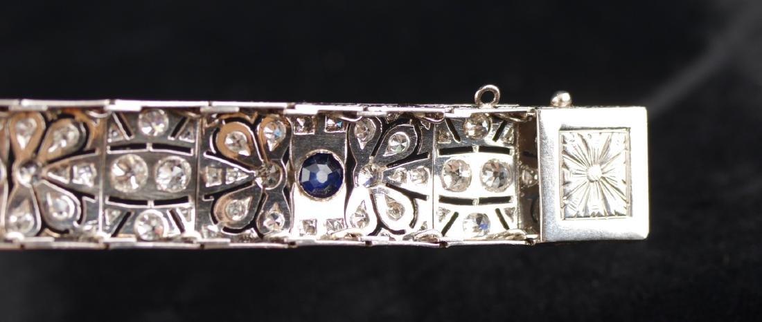 Diamond and Sapphire Art Deco Bracelet - 7