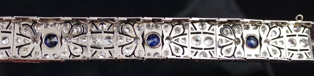 Diamond and Sapphire Art Deco Bracelet - 8