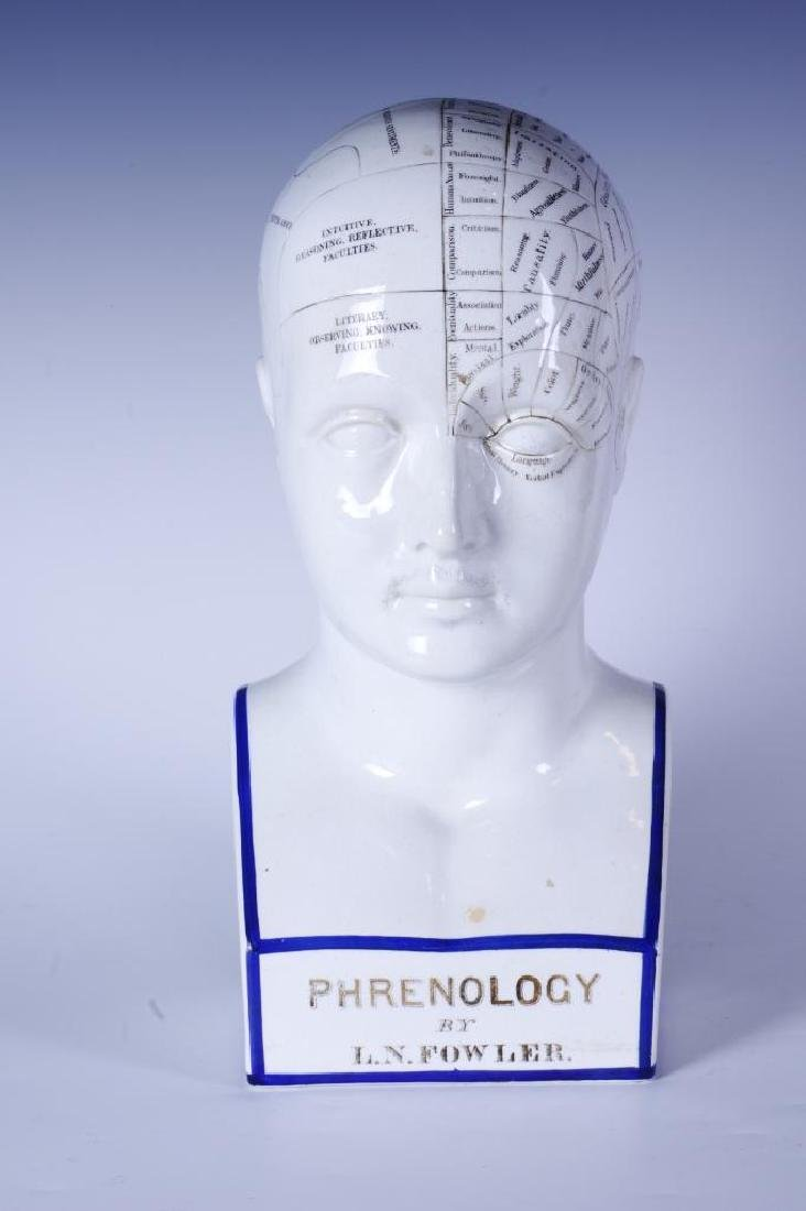 Phrenology by L.N. Fowler Porcelain Head