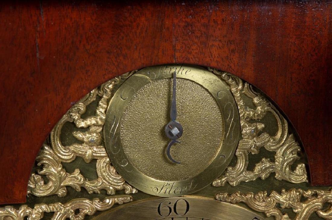 Mahogany English bracket clock made by John Brockbank - 10