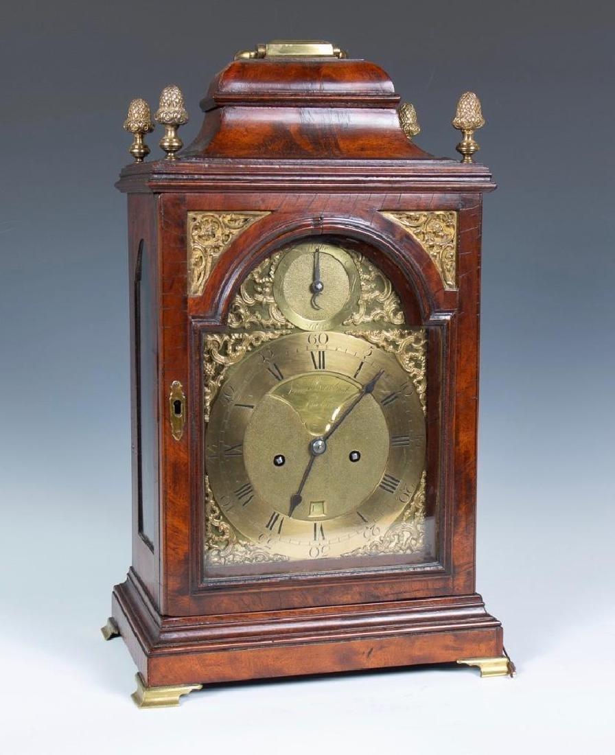 Mahogany English bracket clock made by John Brockbank