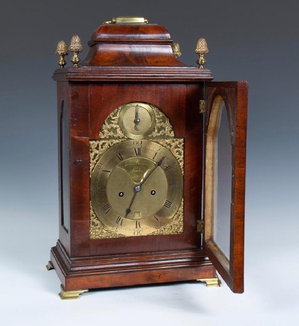 Mahogany English bracket clock made by John Brockbank - 2