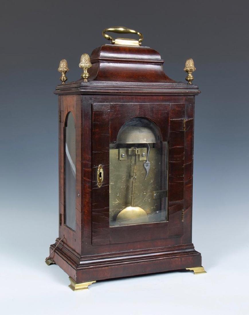 Mahogany English bracket clock made by John Brockbank - 5