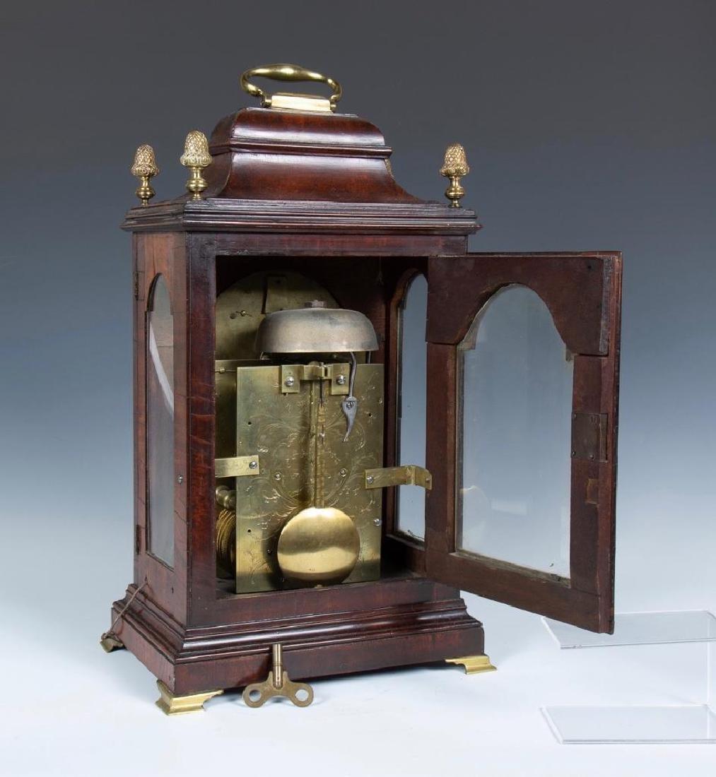Mahogany English bracket clock made by John Brockbank - 6