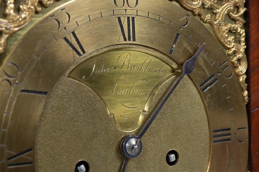 Mahogany English bracket clock made by John Brockbank - 9