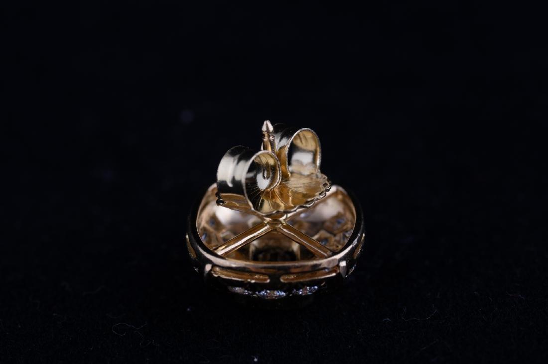 Saphire and Diamond Earrings - 5