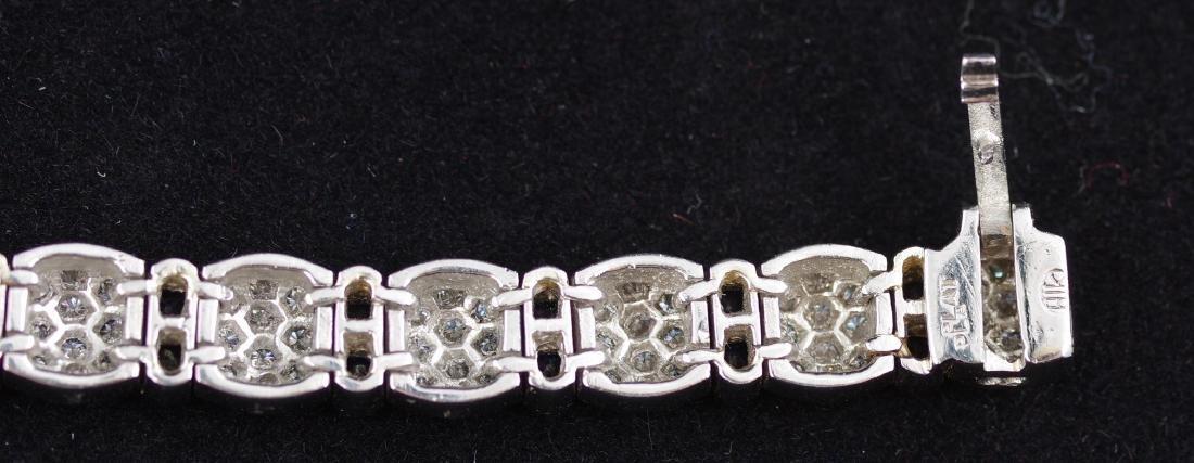 Sapphire and Diamond Platinum Link Bracelet - 3