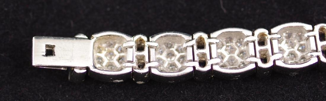 Sapphire and Diamond Platinum Link Bracelet - 4