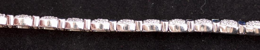 Sapphire and Diamond Platinum Link Bracelet - 7