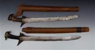 Two Southern Philippine Moro Keris & Sword, 19th Cen.