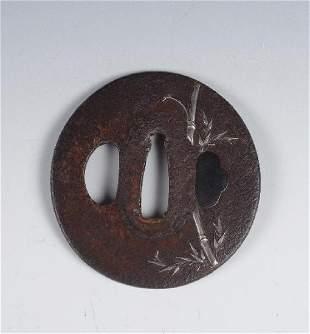 Iron and Silver Inlay Tsuba