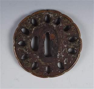 Iron and Copper Tsuba