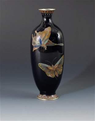 Japanese Cloisonne Vase, Attributed to Hayashi Kodenji