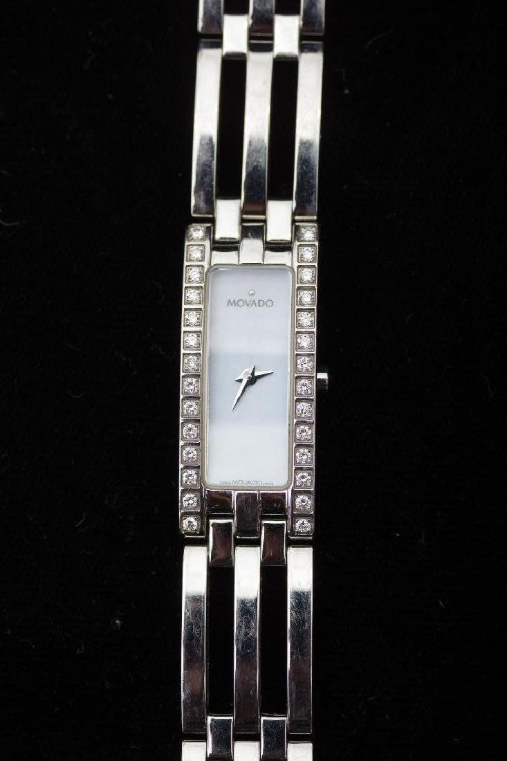 Stainless Steel Movado Esperanza Baguette Ladies Watch