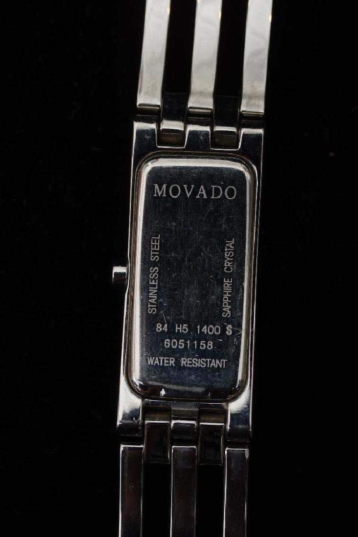 Stainless Steel Movado Esperanza Baguette Ladies Watch - 7