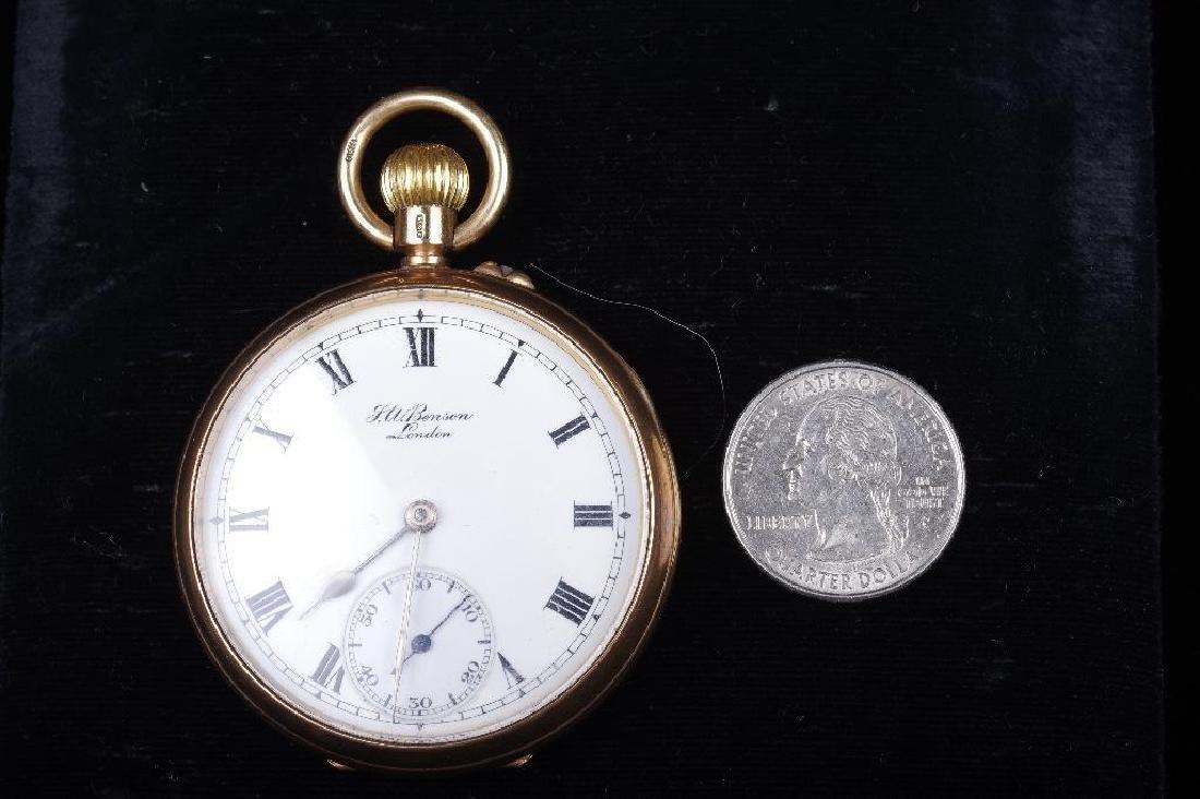 J.W.Benson 9K Yellow Gold Pocket Watch, London - 3