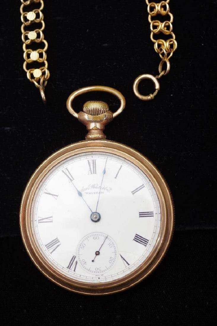 Waltham American Watch Company Gold Filled Pocket Watch