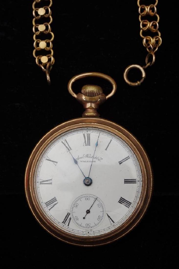 Waltham American Watch Company Gold Filled Pocket Watch - 2
