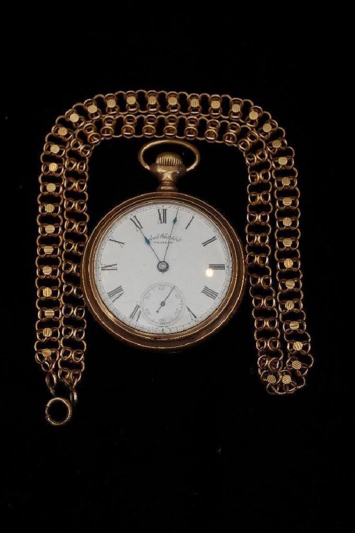 Waltham American Watch Company Gold Filled Pocket Watch - 8