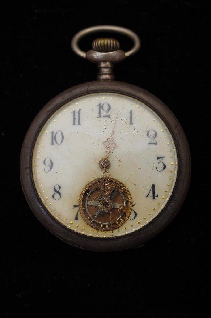 French 800 Silver Open Face Pocket Watch,Paris