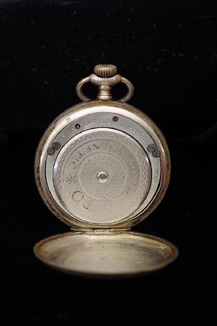 French 800 Silver Open Face Pocket Watch,Paris - 5