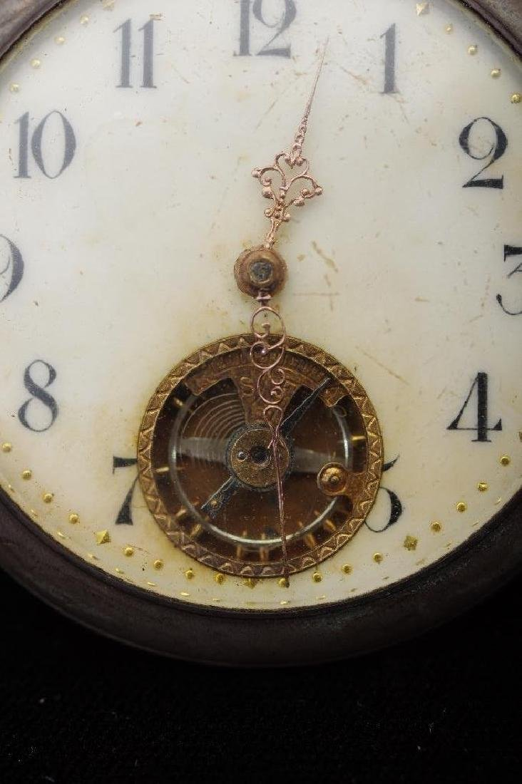 French 800 Silver Open Face Pocket Watch,Paris - 9