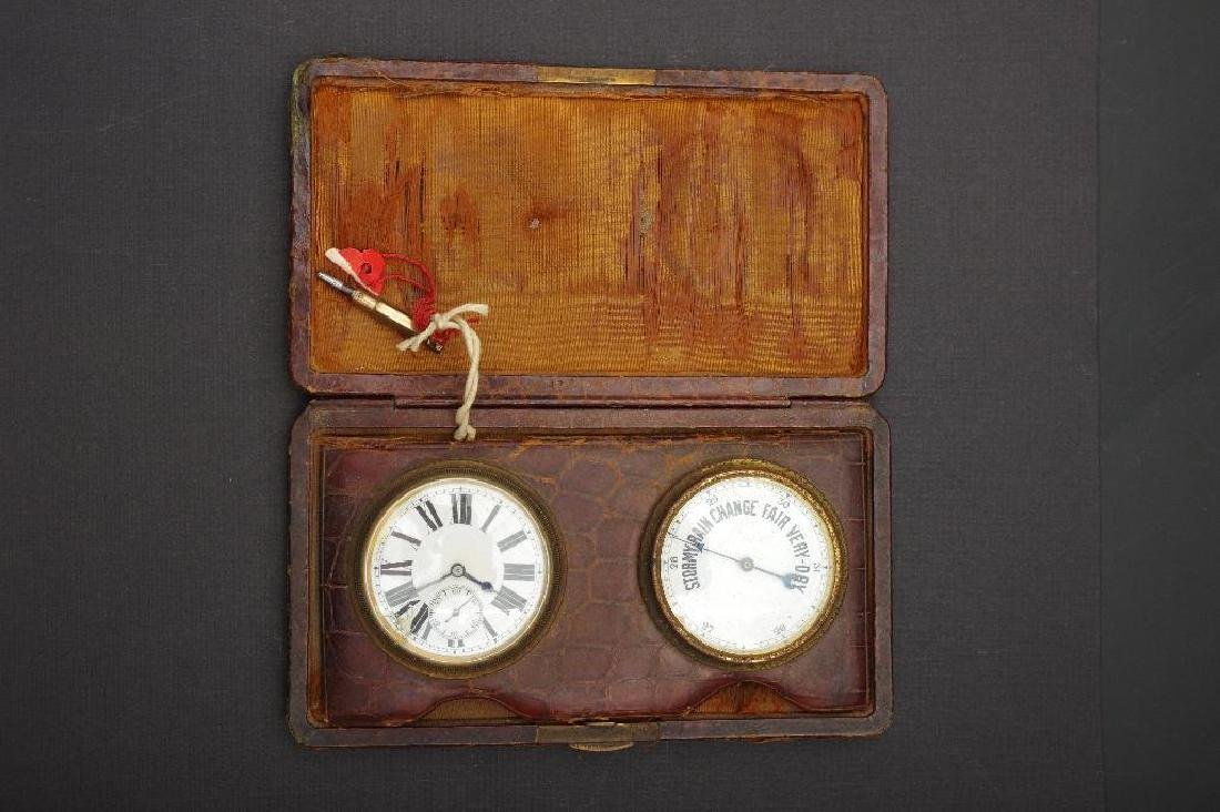 English Traveling Barometer and Watch