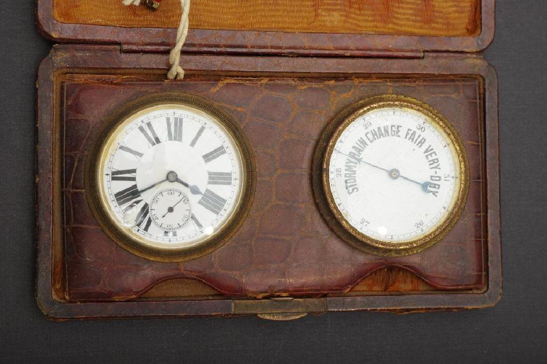 English Traveling Barometer and Watch - 2