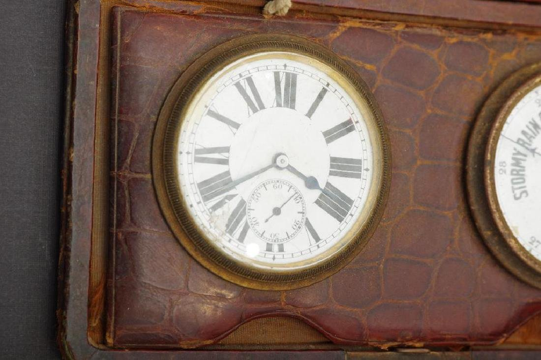 English Traveling Barometer and Watch - 3