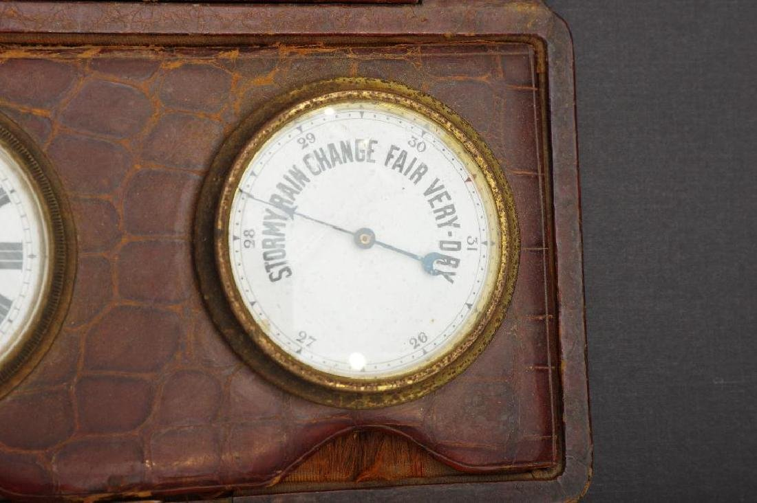 English Traveling Barometer and Watch - 4