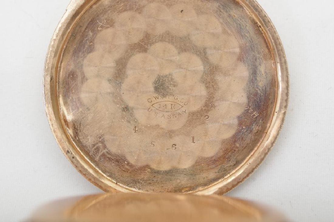 Elgin 14K Yellow, White and Rose Gold Ladies Pocket - 5
