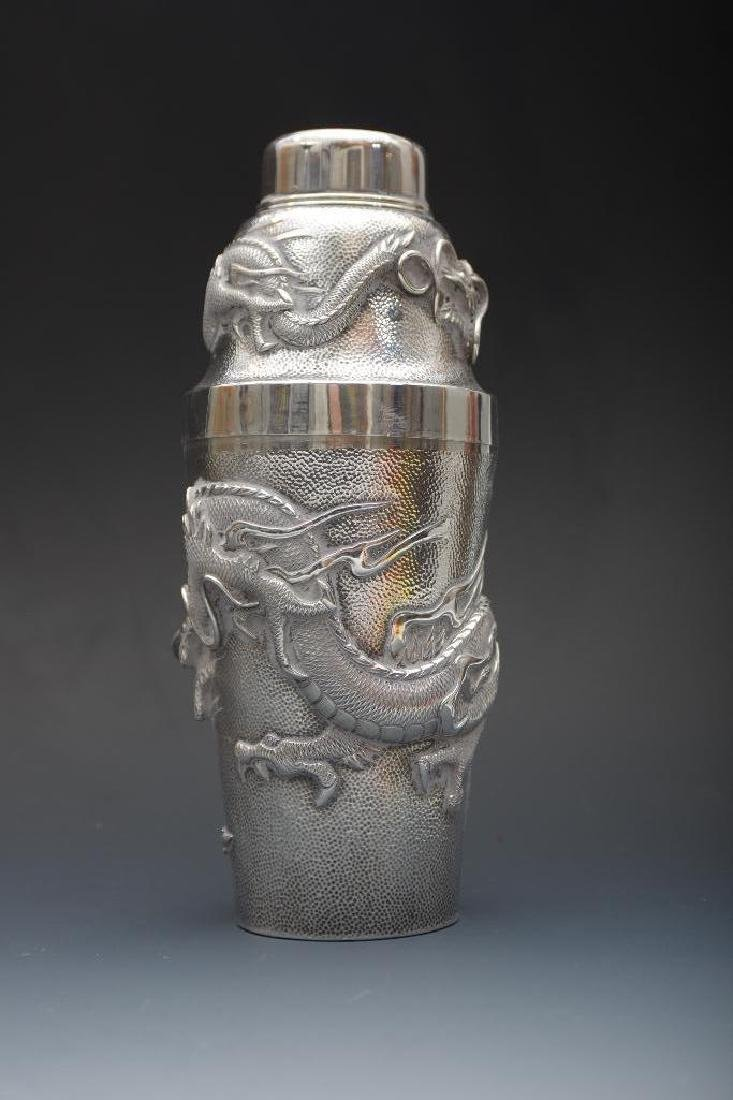 Chinese Silver Dragon Cocktail Shaker - 2