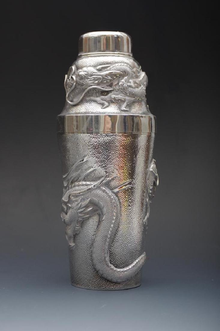 Chinese Silver Dragon Cocktail Shaker - 3