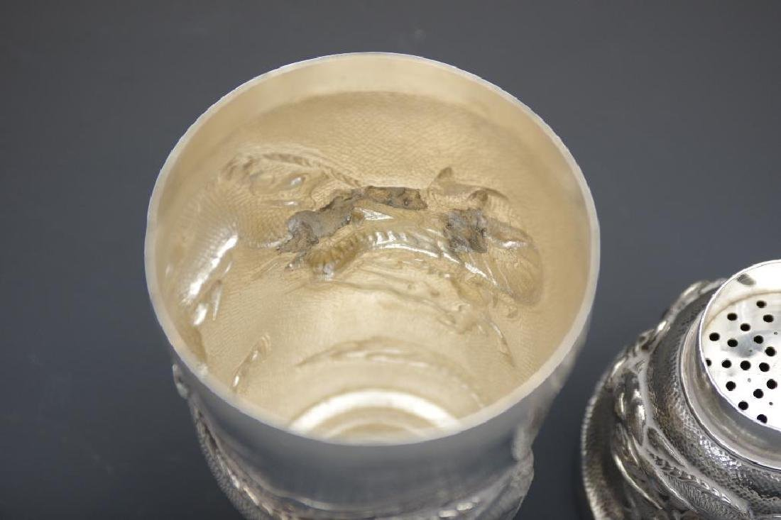 Chinese Silver Dragon Cocktail Shaker - 6