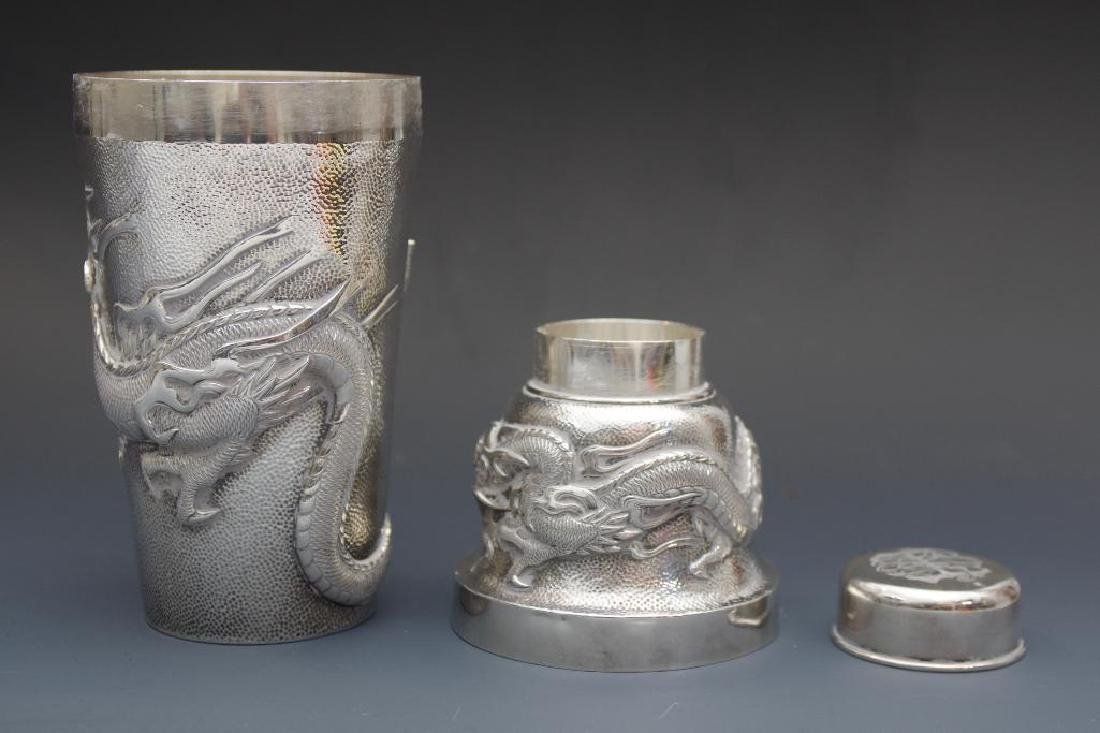 Chinese Silver Dragon Cocktail Shaker - 7