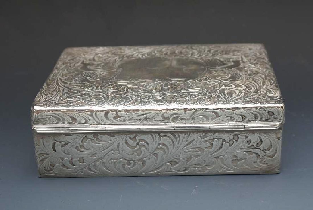 Sterling Silver Velvet Lined Jewelry Box, Black Starr